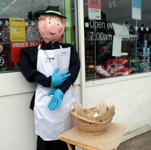 The baker selling ciabatta outside the Co-op.