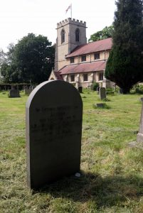 Alfred Martlew's grave in St. Andrew's Churchyard, Bishopthorpe.  He died 5 July 1917.
